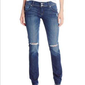 Hudson Women's Distressed Knee Skinny Jeans